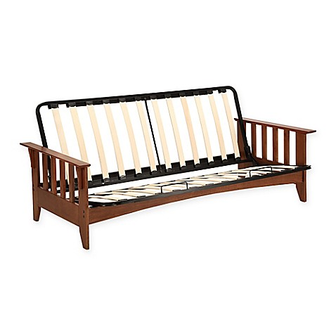Simmons Seattle Express Full Futon Frame in Vintage Oak