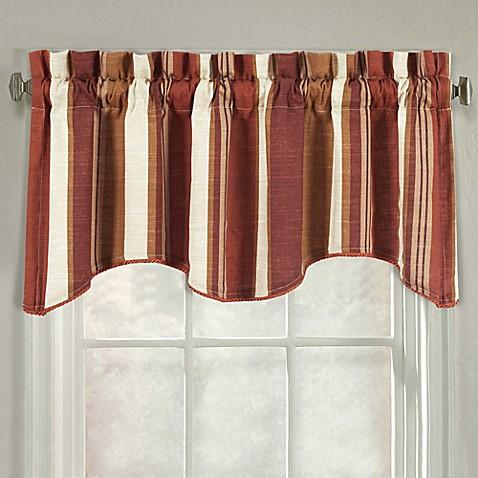 Buy J Queen New York Valdosta Stripe Scallop Window Valance In Spice From Bed Bath Beyond