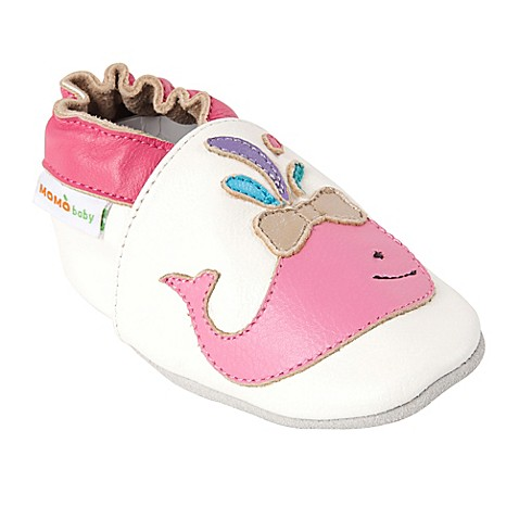 Momo Baby A Whale of a Time Shoes in White Bed Bath & Beyond