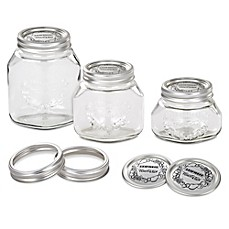 image of leifheit wide mouth canning mason jars set of 6