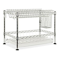 image of Safavieh Darina Adjustable Chrome Wire Dish Rack in Chrome