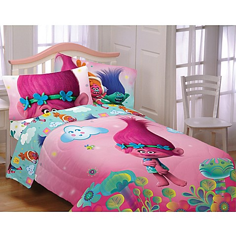 image of Trolls Hugs Harmony Twin Full Comforter. Kids   Teen Bedding   Comforter Sets  Sheets  Bedding Sets For