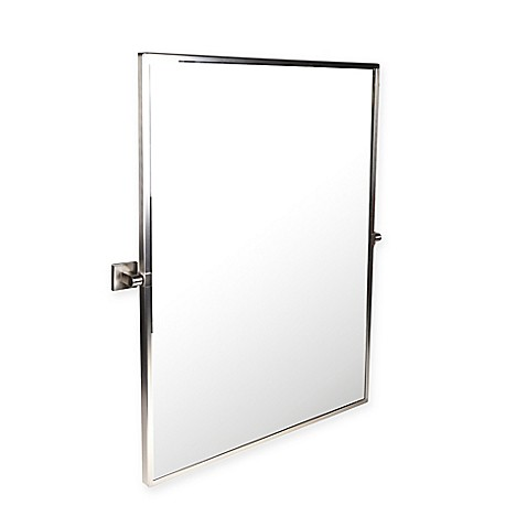 satin nickel bathroom mirror buy gatco 174 elevate framed rectangular mirror in satin 20309