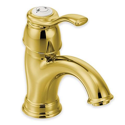 Moen Kingsley 1 Handle Bathroom Faucet In Polished Brass Bed Bath Beyond