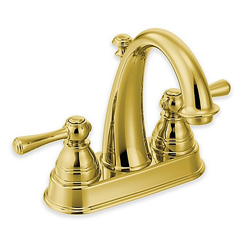 Buy Moen Kingsley 2 Handle High Arc Faucet In Polished Brass From Bed Bath Beyond