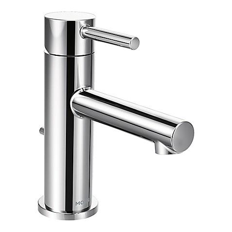 Moen align one handle bathroom faucet in chrome bed - Moen chrome bathroom sink faucets ...