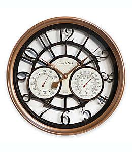 Reloj de pared Sterling & Noble™, para exteriores/interiores de 59.69 cm con acabado de cobre