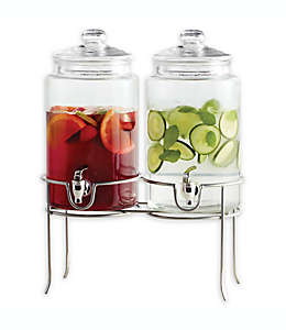 Dailyware® Dispensador de bebidas doble con base metálica