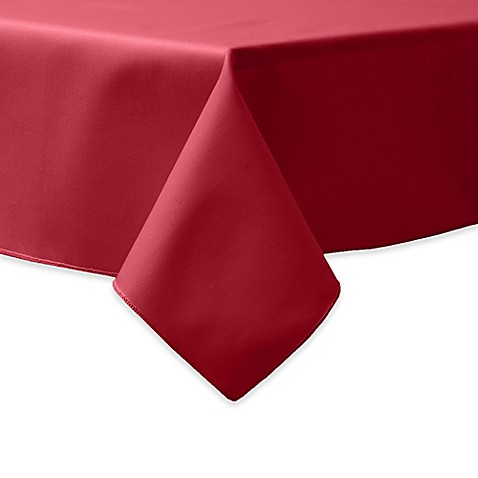 Buy 84-Inch Square Indoor/Outdoor Twill Tablecloth in Red ...