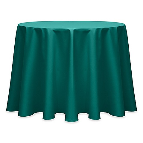 Buy 90 Inch Round Indoor Outdoor Twill Tablecloth In Teal