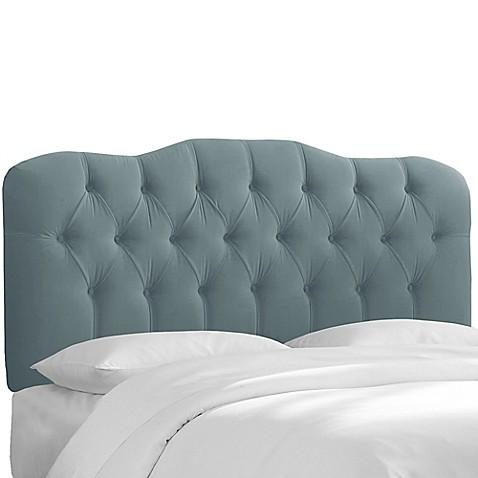 Buy Skyline Furniture Cranford Velvet Full Headboard In Ocean From Bed Bath Beyond
