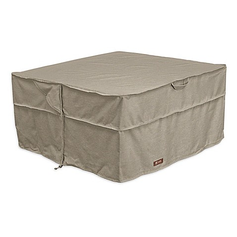 buy classic accessories montlake 42 inch square firepit cover in grey from bed bath beyond. Black Bedroom Furniture Sets. Home Design Ideas