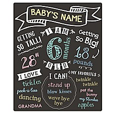image of Pearhead Baby's Monthly Chalkboard
