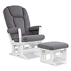 image of dutailier modern glider and ottoman in