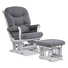 Dutailier® Multi Position Reclining Sleigh Glider And Nursing Ottoman In  Grey/Charcoal