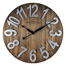 Charming FirsTime® Slat Wall Clock In Wood