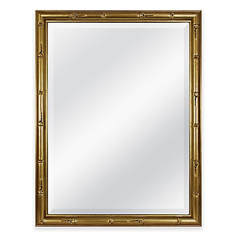 Bamboo Frame Mirror In Gold Bed Bath Beyond