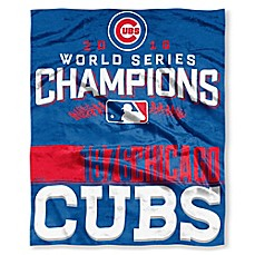 image of MLB Chicago Cubs 2016 World Series Champions Silk-Touch Throw Blanket