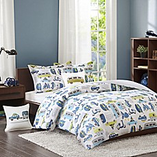 image of INK+IVY Kids Road Trip Comforter Set in Blue