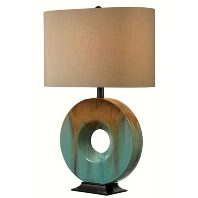 image of Kenroy Home Sesame Table Lamp in Teal