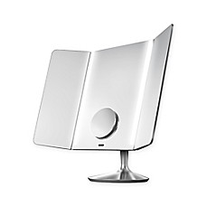 image of simplehuman® Wide View Sensor Mirror in Brushed Chrome