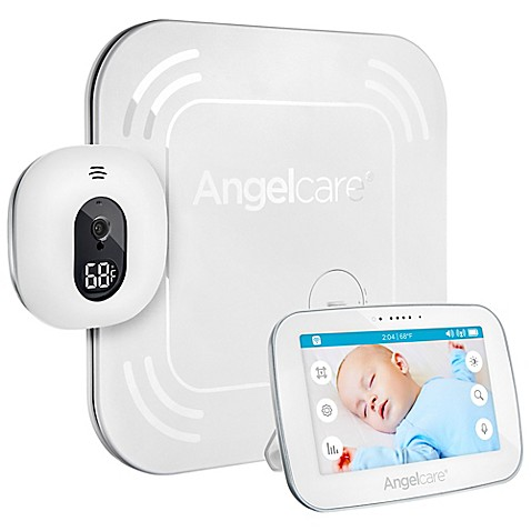 buy angelcare 5 inch video touch screen monitor with wireless movement sensor pad in white from. Black Bedroom Furniture Sets. Home Design Ideas