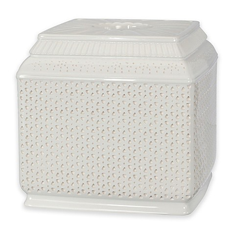 Buy nomad boutique tissue box cover in white black from for Nomad containers
