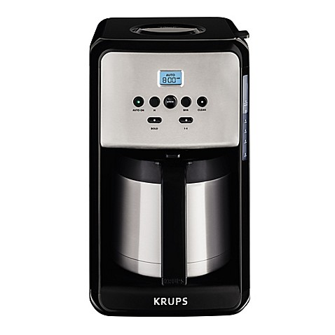 krups savoy 12 cup programmable coffee maker in black. Black Bedroom Furniture Sets. Home Design Ideas