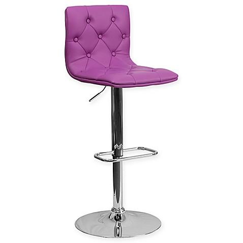 Buy Flash Furniture Tufted Vinyl Adjustable Height Bar