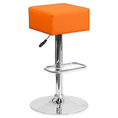 Flash Furniture Contemporary Vinyl Adjustable Square Bar