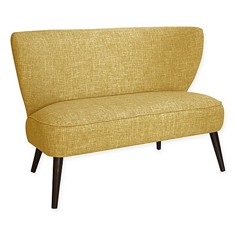 Buy Skyline Furniture Rennert Armless Loveseat In Zuma Golden From Bed Bath Beyond