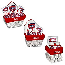 image of Designs by Chad and Jake NHL Personalized Montreal Canadiens Gift Basket in White
