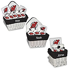 image of Designs by Chad and Jake NHL Personalized New Jersey Devils Gift Basket in White