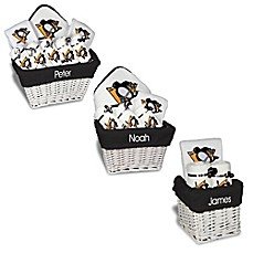 image of Designs by Chad and Jake NHL Personalized Pittsburgh Penguins Gift Basket in White
