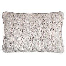 image of park b smith classic cable oblong throw pillow