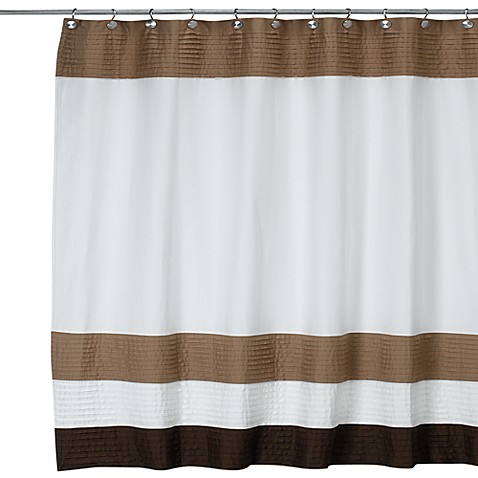 Dkny Color Block Cafe 72 Inch W X 72 Inch L Fabric Shower