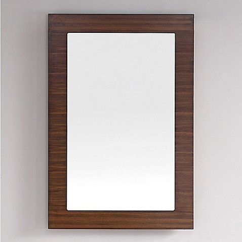 James Martin Furniture Metropolitan 30-Inch Rectangular Wall Mirror in Walnut