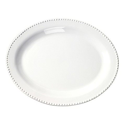 Image Of Tabletops Unlimited® 21 Inch Beaded Oval Oversized Platter