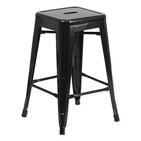 Buy Flash Furniture 24 Inch Backless Metal Stool With