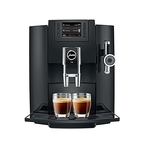 buy jura e8 automatic coffee machine in piano black from bed bath beyond. Black Bedroom Furniture Sets. Home Design Ideas