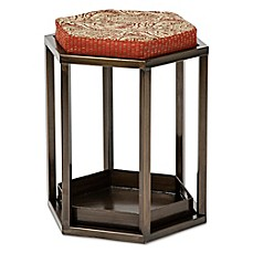 image of Bombay® Outdoor Venetian Stool with Tray and Cushion