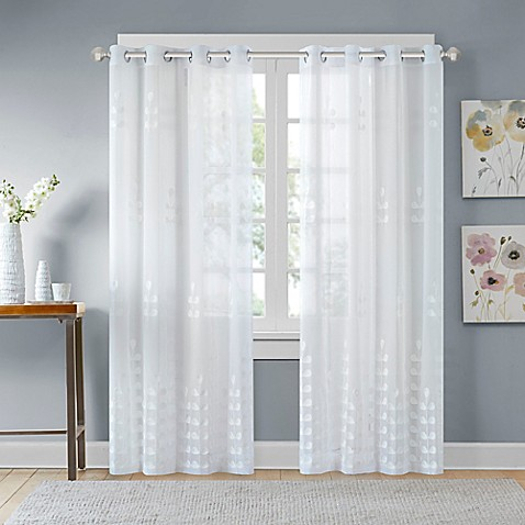 Madison Park Jolie Embroidered Sheer Window Curtain Panel