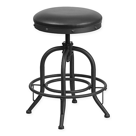 Flash Furniture Bar Stool With Swivel Lift In Black Bed