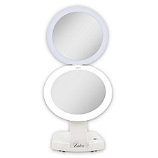 image of Zadro™ Next Generation 1X/10X Travel Compact Mirror in White