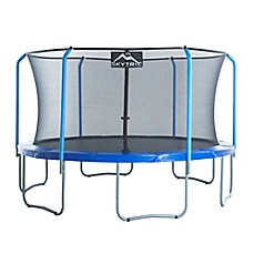 image of Upper Bounce Skytric Trampoline with Top Ring Enclosure