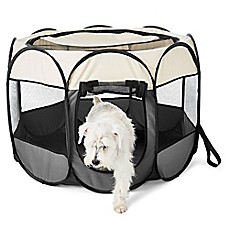 image of Paws Life™ Portable Dog Pen in Grey