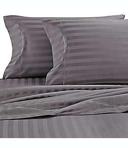 Set de sábanas individual de PimaCott® Wamsutta® Damask Stripe, de 500 hilos en gris