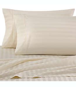 Set de sábanas matrimoniales de algodón Wamsutta® Damask Stripe, de 500 hilos color marfil