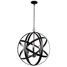 image of kenroy home global pendant in black bed bath and beyond lighting