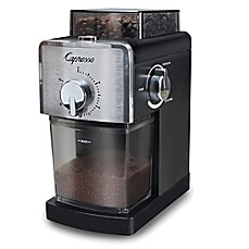image of Capresso® Coffee Burr Grinder in Black/Stainless Steel